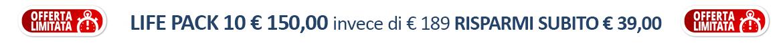 Acquista subito Life Magnesio Cloruro, LifePack da 10 confezioni ad un prezzo speciale, Risparmi subito 39 euro!